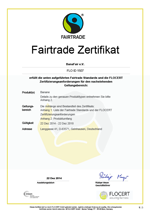 Fairtrade-Zertifikat